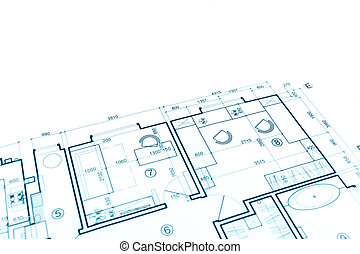 maison, plan, projet, partie, plan, architectural, construction, plan