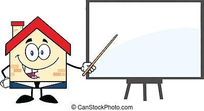 maison, planche, présentation