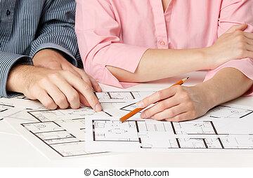 maison, planification, famille