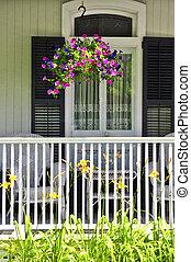 maison, porche