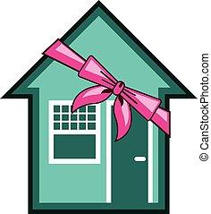 maison, présent, cadeau