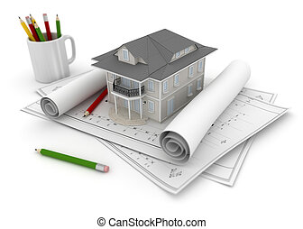 Plan projet maison g om trique conception wireframe for Projet 3d maison