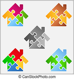 maison, puzzle