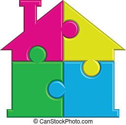 maison, puzzles