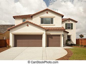 maison, récemment, moderne, constructed
