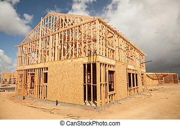 maison, résumé, site construction