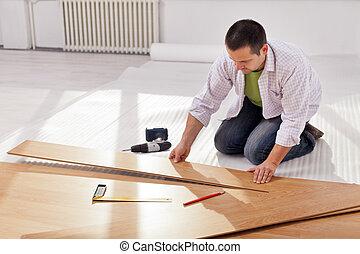 maison, redecorating, -, amélioration