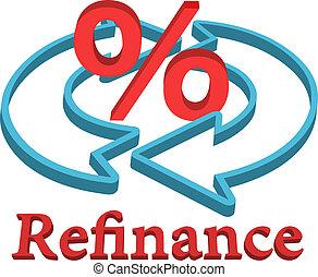 maison, refinance, prêt, hypothèque
