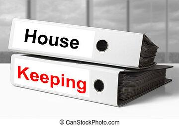 maison, relieur, garder, bureau