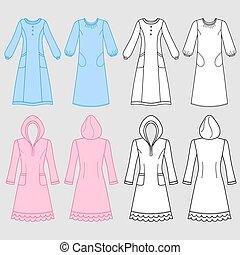 maison, robe, chemise nuit