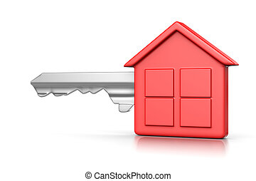 maison, rouges, clã©