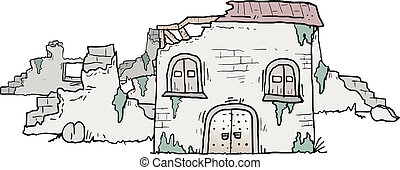 maison, ruine