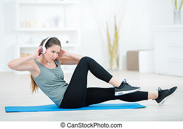 maison, séance entraînement, routine
