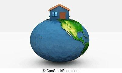 maison, séance, la terre