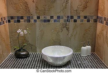 maison, salle bains, -, intérieurs