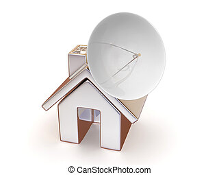 maison, satellite