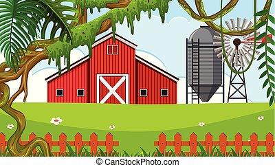 maison, secteur, rural