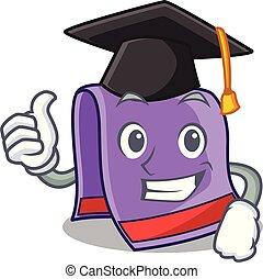 maison, serviette, dessin animé, remise de diplomes, cuisine