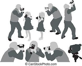 maison, shootings, vidéo