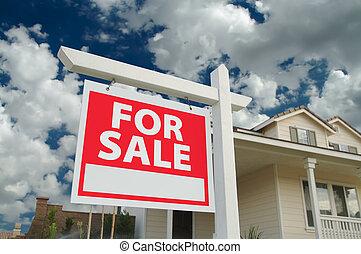 maison, signe vendre