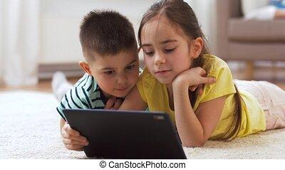 maison, soeur, informatique, frère, tablette