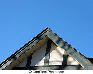 maison, sommet, toit