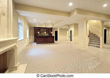 maison, sous-sol, construction, nouveau