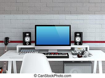studio enregistrement brun microphone plancher bois dessin rechercher des. Black Bedroom Furniture Sets. Home Design Ideas