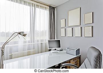 maison,  Style, bureau, luxueux