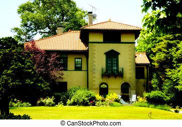 maison, style, tuscani