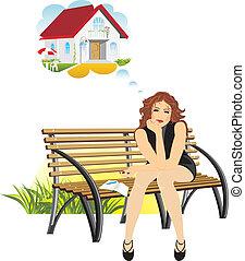 maison, sur, rêves, privé