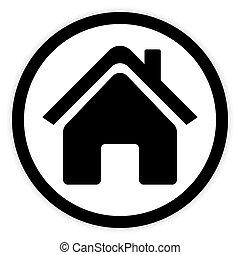 maison symbole rond maison blanc ic ne isol rond clip art vectoriel rechercher des. Black Bedroom Furniture Sets. Home Design Ideas