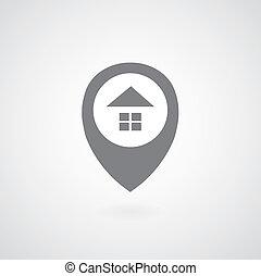 maison, symbole, indicateur