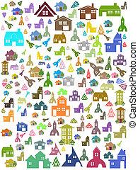 maison, symbole, seamless, fond