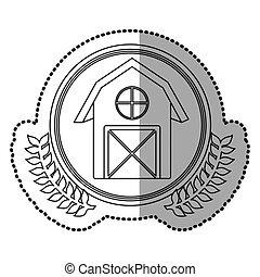 maison, symbole, signe, icône