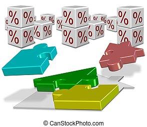 maison, taux, intérêt, hypothèque