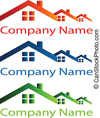 maison, toit, logo, pour, immobiliers