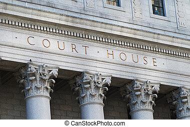 maison, tribunal