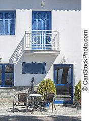 maison, typique, Grec
