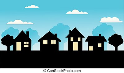 maison, vecteur, icône