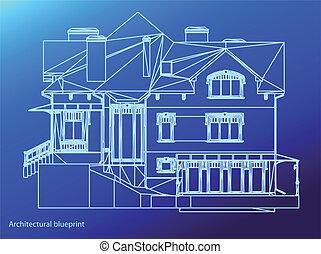 maison, vecteur, illustration, facade.