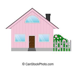 maison, vecteur, illustration, icône