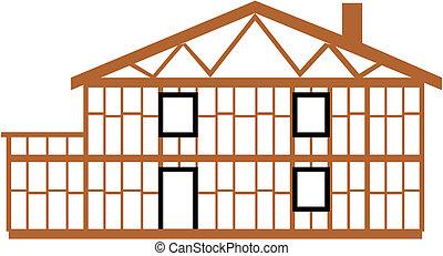 maison, vecteur,  Illustration