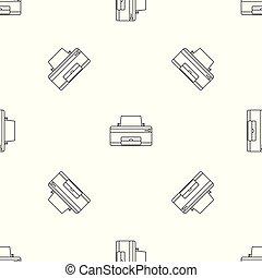maison, vecteur, seamless, imprimante, modèle