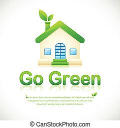 maison, vert