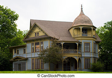 maison, victorien, style gothique