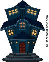 maison, vieux, dessin animé