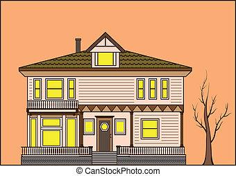 maison, vieux façonné