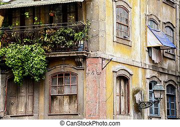 maison, vieux, porto, portugal