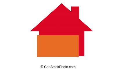 maisons, énergie, concept, efficacité
